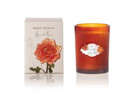 Apricot Rose Signature Glass Candle
