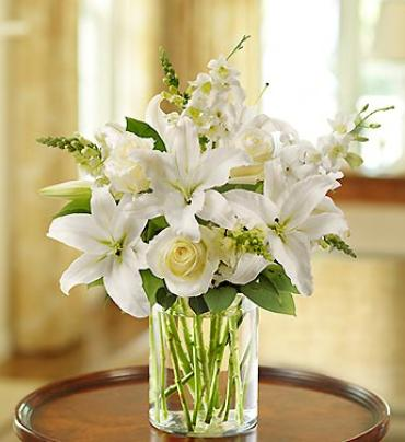 Classical All-White Arrangement