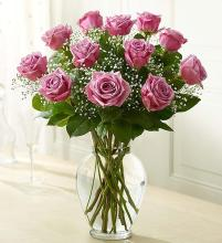 Elegant Long Stem Purple Roses