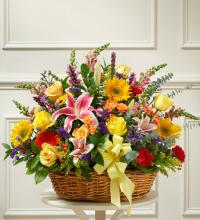 Bright Sympathy Flower Basket