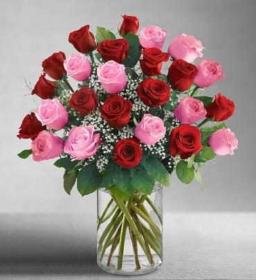 Ultimate Elegance& Long Stem Pink & Red Roses