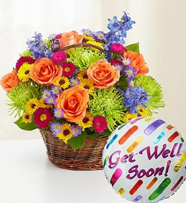 Get Well Colorful Basket