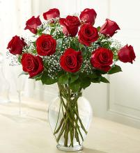 Elegant Long Stem Red Roses