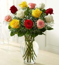 "Rose Eleganceâ""¢ Premium Long Stem Assorted Roses"